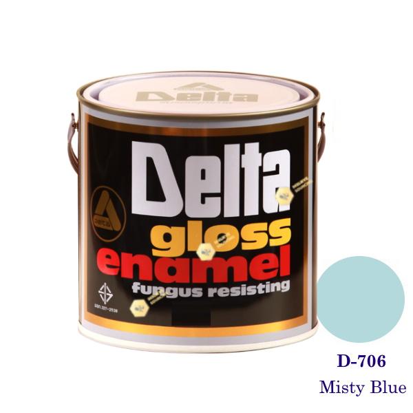 DELAT GLOSS ENAMEL สีเคลือบน้ำมัน D-706 Misty Blue