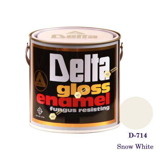 DELAT GLOSS ENAMEL สีเคลือบน้ำมัน D-714 Snow White