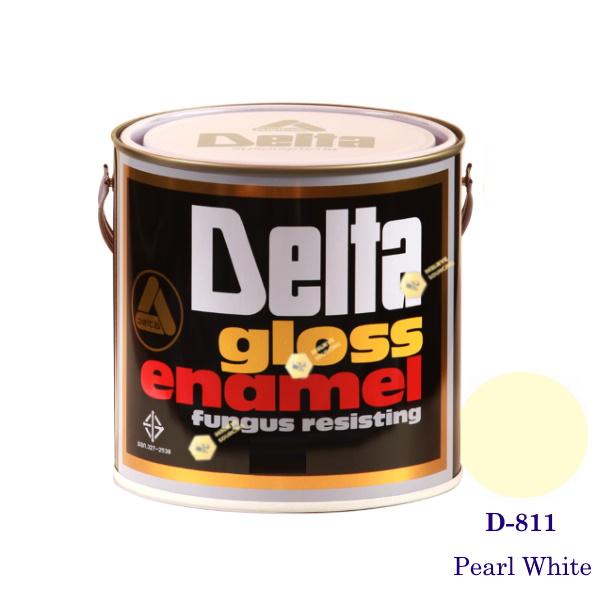 DELAT GLOSS ENAMEL สีเคลือบน้ำมัน D-811 Pearl White