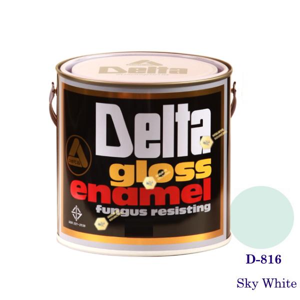 DELAT GLOSS ENAMEL สีเคลือบน้ำมัน D-816 Sky White