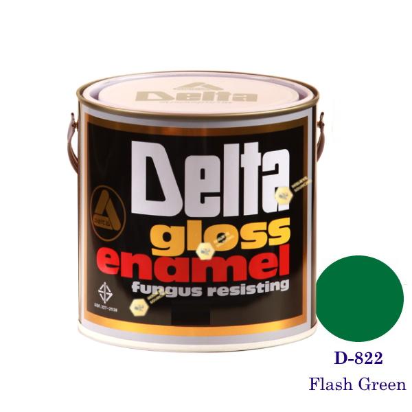 DELAT GLOSS ENAMEL สีเคลือบน้ำมัน D-822 Flash Green