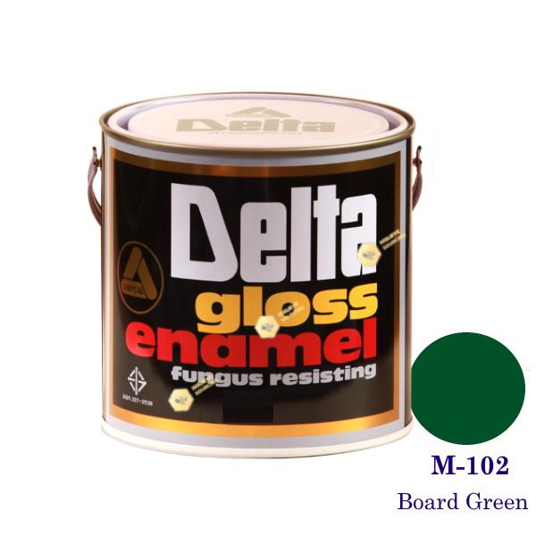 DELAT GLOSS ENAMEL สีเคลือบน้ำมันชนิดด้าน M102 Board Green