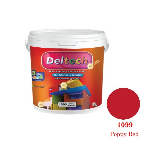 แม่สี Deltech 1099 Poppy Red-1gl.