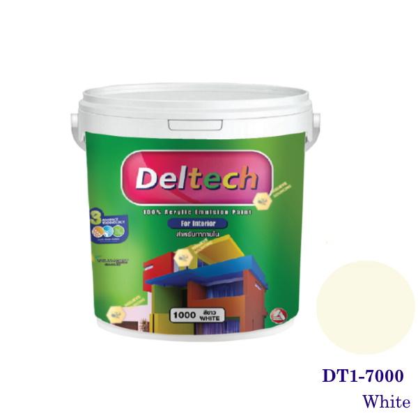 Deltech สีทาฝ้า DT1-7000 White-1gl.