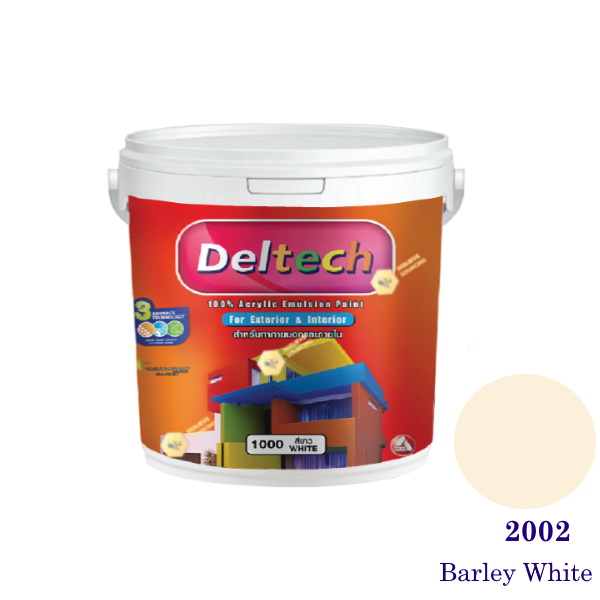 Deltech สีน้ำอะครีลิคภายนอก 2002 Barley White-1gl.