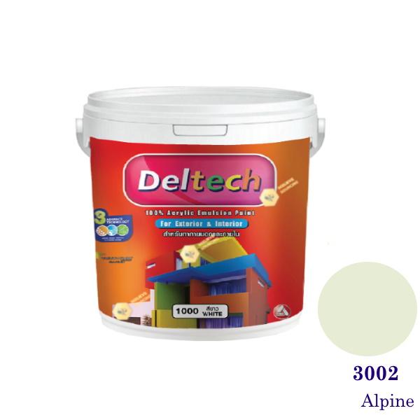 Deltech สีน้ำอะครีลิคภายนอก 3002 Alpine-1gl.