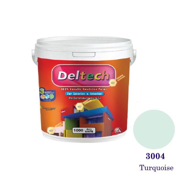 Deltech สีน้ำอะครีลิคภายนอก 3004 Turquoise-1gl.