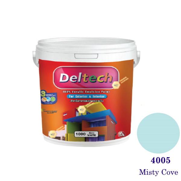 Deltech สีน้ำอะครีลิคภายนอก 4005 Misty Cove-1gl.