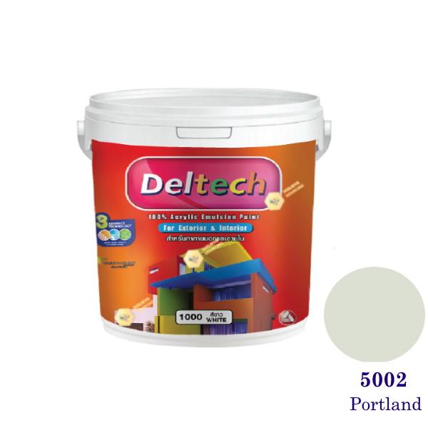 Deltech สีน้ำอะครีลิคภายนอก 5002 Portland-1 gl
