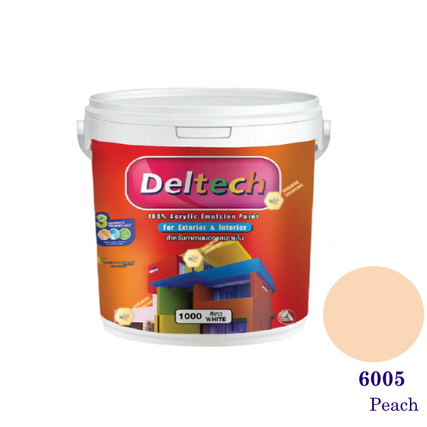 Deltech สีน้ำอะครีลิคภายนอก 6005 Peach-1gl.