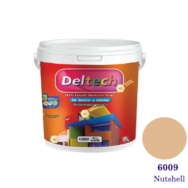 Deltech สีน้ำอะครีลิคภายนอก 6009 Nutshell-1gl.