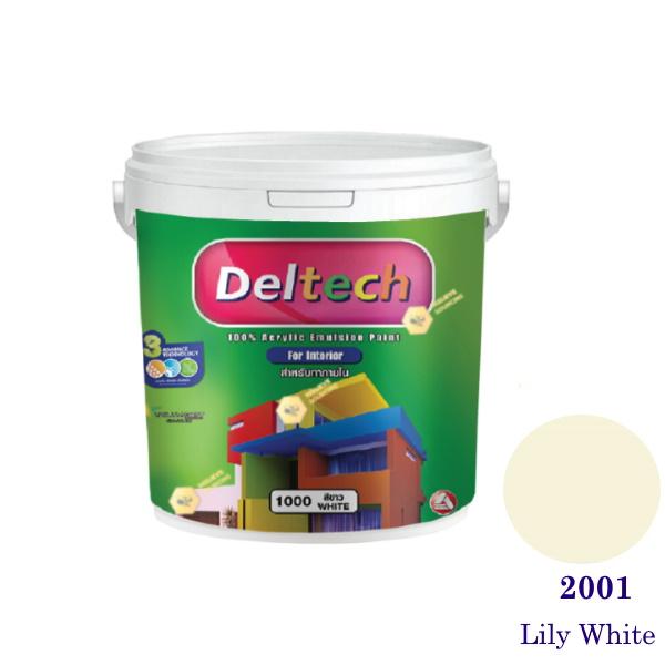 Deltech สีน้ำอะครีลิคภายใน 2001 Lily White-1gl.