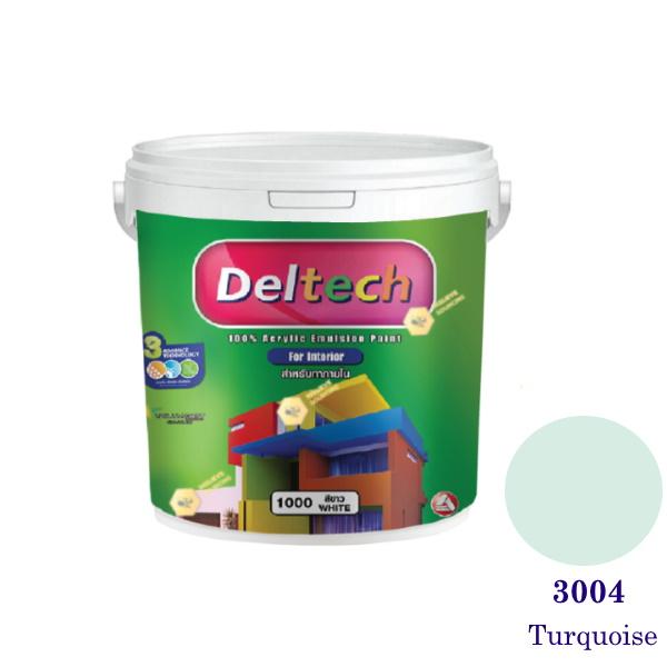 Deltech สีน้ำอะครีลิคภายใน 3004 Turquoise-1gl.
