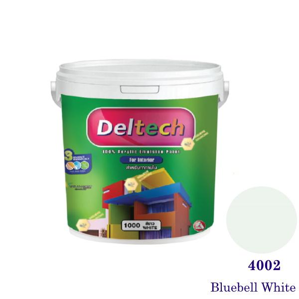 Deltech สีน้ำอะครีลิคภายใน 4002 Bluebell White-1gl.