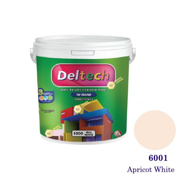 Deltech สีน้ำอะครีลิคภายใน 6001 Apricot White-1gl.
