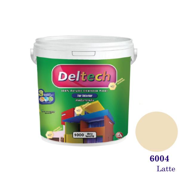 Deltech สีน้ำอะครีลิคภายใน 6004 Snow Peach-1gl.