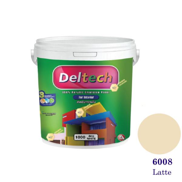 Deltech สีน้ำอะครีลิคภายใน 6008 Latte-1gl.