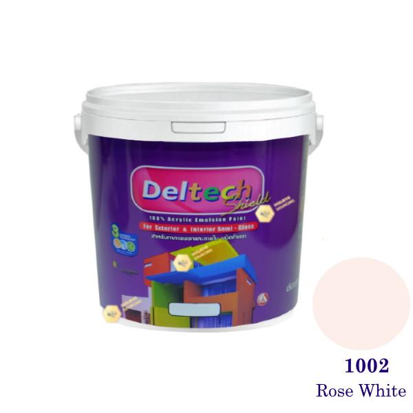 Deltech สีน้ำอะครีลิคกึ่งเงา SG-1002 Rose White-1gl.