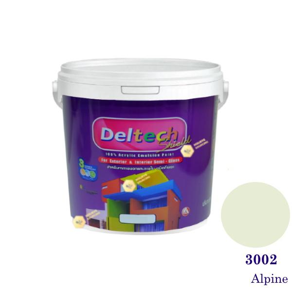 Deltech สีน้ำอะครีลิคกึ่งเงา SG-3002 Alpine-1gl.