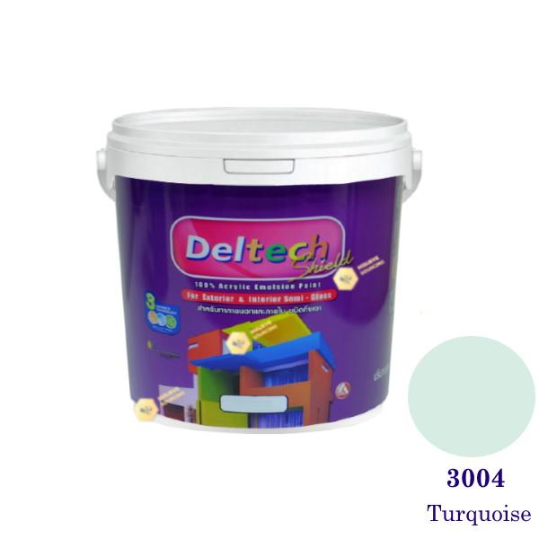 Deltech สีน้ำอะครีลิคกึ่งเงา SG-3004 Turquoise-1gl.