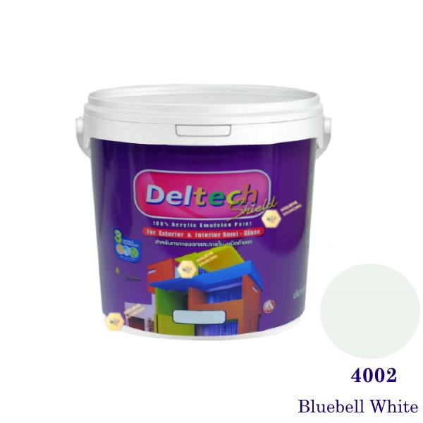 Deltech สีน้ำอะครีลิคกึ่งเงา SG-4002 Bluebell White-1gl.