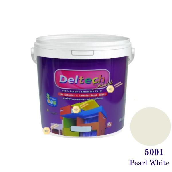 Deltech สีน้ำอะครีลิคกึ่งเงา SG-5001 Pearl White-1 gl