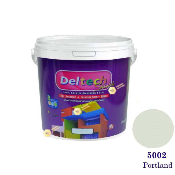 Deltech สีน้ำอะครีลิคกึ่งเงา SG-5002 Portland-1gl.