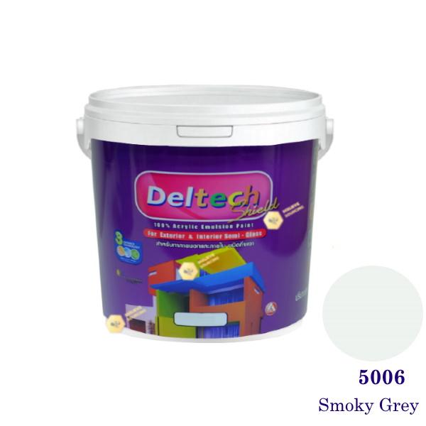 Deltech สีน้ำอะครีลิคกึ่งเงา SG-5006 Smoky Grey-1 gl