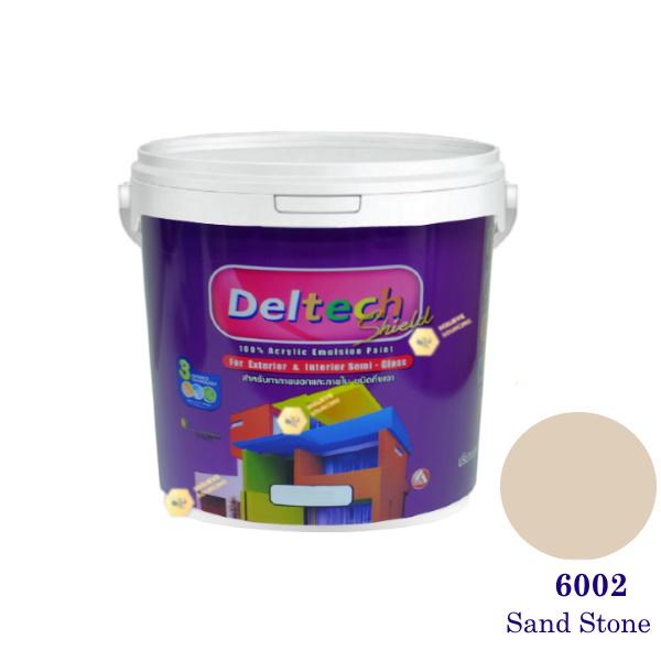 Deltech สีน้ำอะครีลิคกึ่งเงา SG-6002 Sand Stone-1gl.