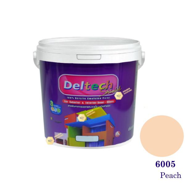 Deltech สีน้ำอะครีลิคกึ่งเงา SG-6005 Peach-1gl.