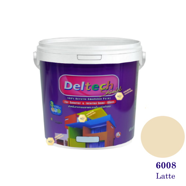 Deltech สีน้ำอะครีลิคกึ่งเงา SG-6008 Latte-1gl.