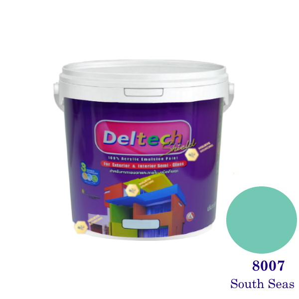 Deltech สีน้ำอะครีลิคกึ่งเงา SG-8007 South Seas-L (สีเข้ม)
