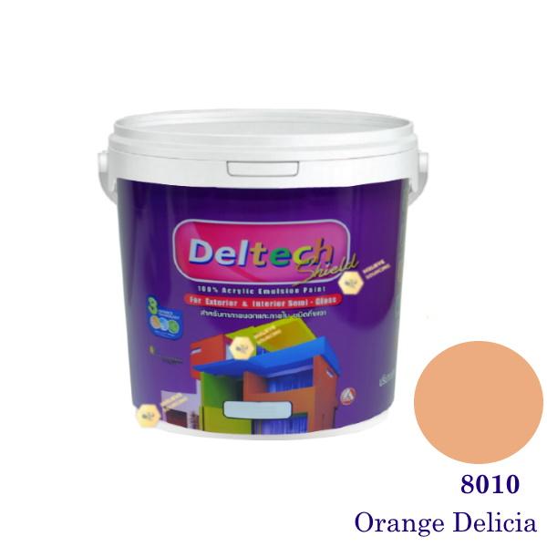 Deltech สีน้ำอะครีลิคกึ่งเงา SG-8010 Orange Delicia-L (สีเข้ม)