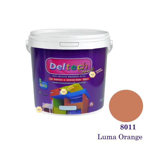 Deltech สีน้ำอะครีลิคกึ่งเงา SG-8011 Luma Orange-L (สีเข้ม)