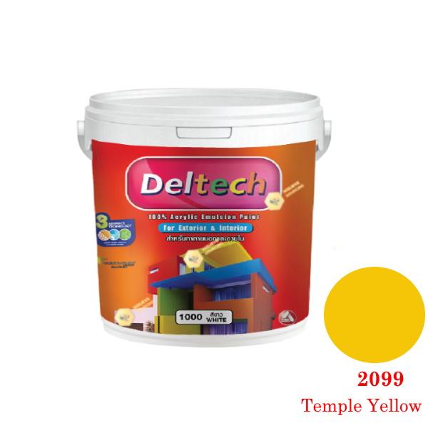 แม่สี Deltech 2099 Temple Yellow-1gl.