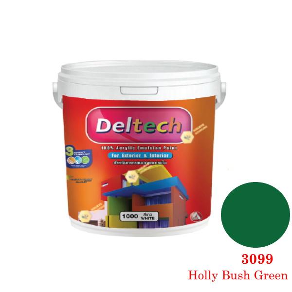 แม่สี Deltech 3099 Holly Bush Green-1gl.