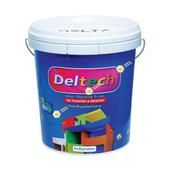 Deltech สีรองพื้นปูนกันด่าง DT-1111 White-5gl.
