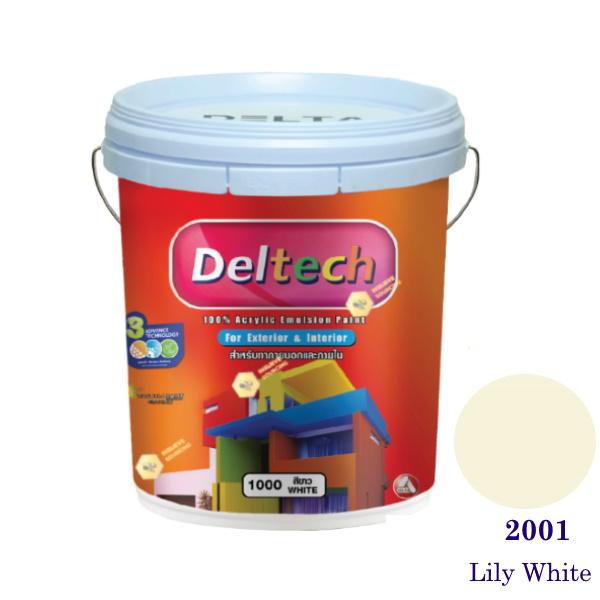 Deltech สีน้ำอะครีลิคภายนอก 2001 Lily White-5gl.