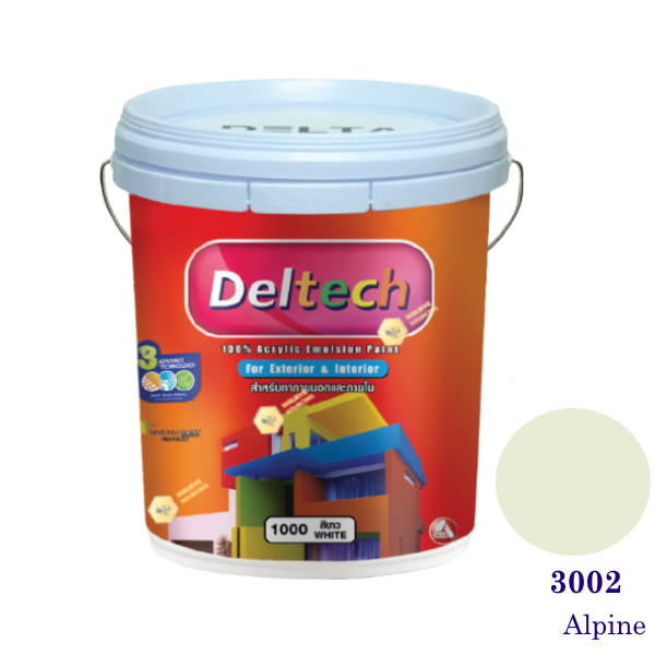 Deltech สีน้ำอะครีลิคภายนอก 3002 Alpine-5gl.