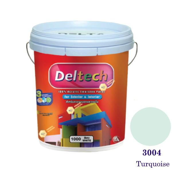 Deltech สีน้ำอะครีลิคภายนอก 3004 Turquoise-5gl.
