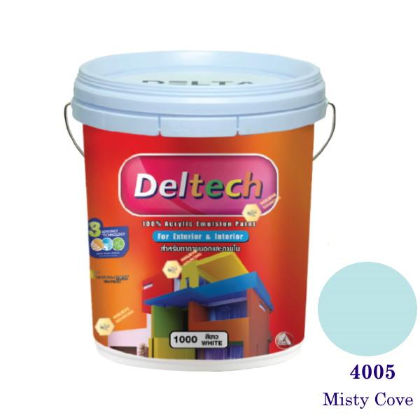 Deltech สีน้ำอะครีลิคภายนอก 4005 Misty Cove-5gl.