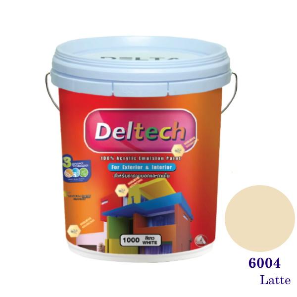 Deltech สีน้ำอะครีลิคภายนอก 6004 Snow Peach-5gl.