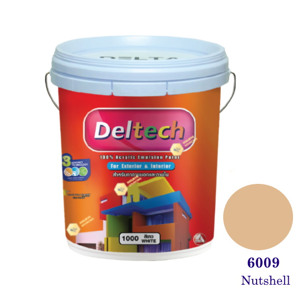 Deltech สีน้ำอะครีลิคภายนอก 6009 Nutshell-5gl.