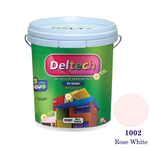 Deltech สีน้ำอะครีลิคภายใน 1002 Rose White-5gl.