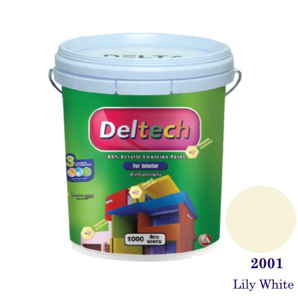 Deltech สีน้ำอะครีลิคภายใน 2001 Lily White-5gl.