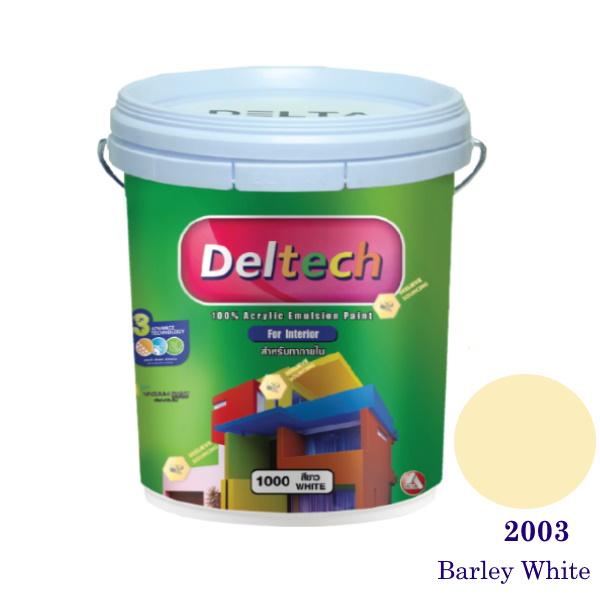 Deltech สีน้ำอะครีลิคภายใน 2003 Barley White-5gl.
