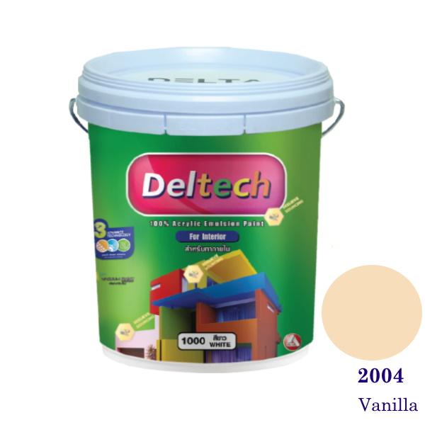 Deltech สีน้ำอะครีลิคภายใน 2004 Vanilla-5gl.
