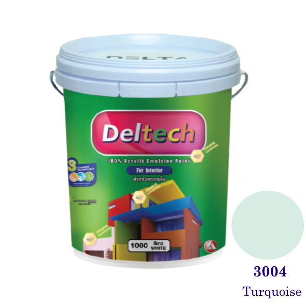 Deltech สีน้ำอะครีลิคภายใน 3004 Turquoise-5gl.