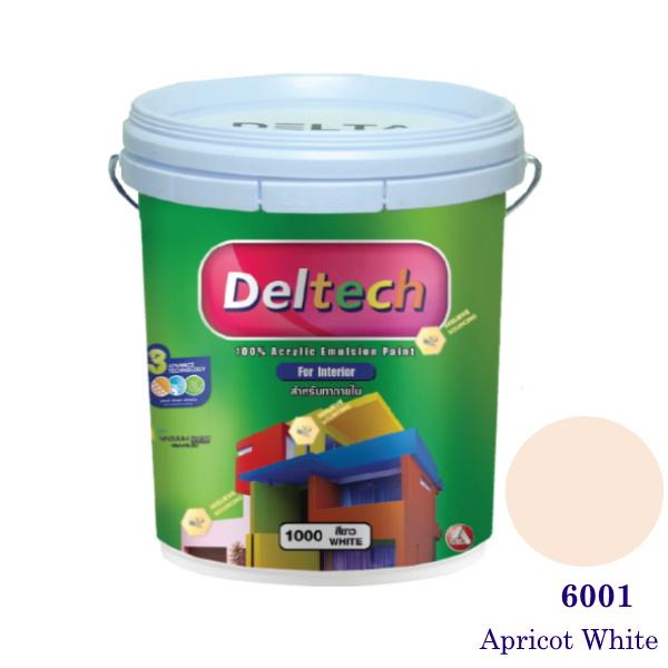 Deltech สีน้ำอะครีลิคภายใน 6001 Apricot White-5gl.
