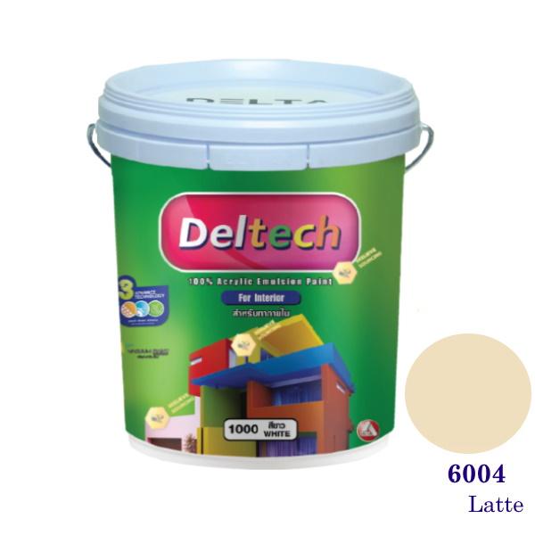 Deltech สีน้ำอะครีลิคภายใน 6004 Snow Peach-5gl.